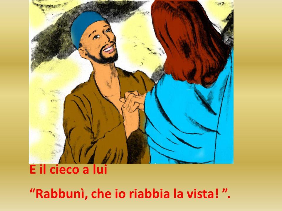 E il cieco a lui Rabbunì, che io riabbia la vista! .