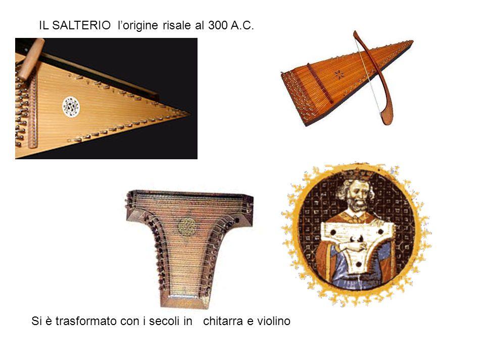 IL SALTERIO l'origine risale al 300 A.C.