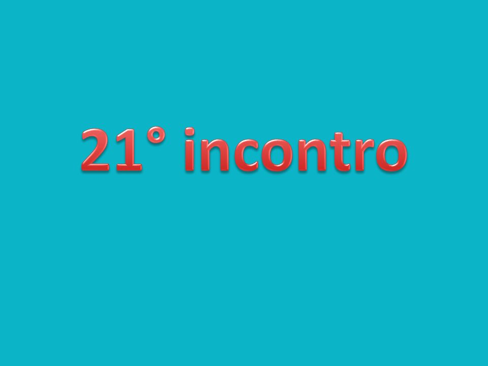 21° incontro
