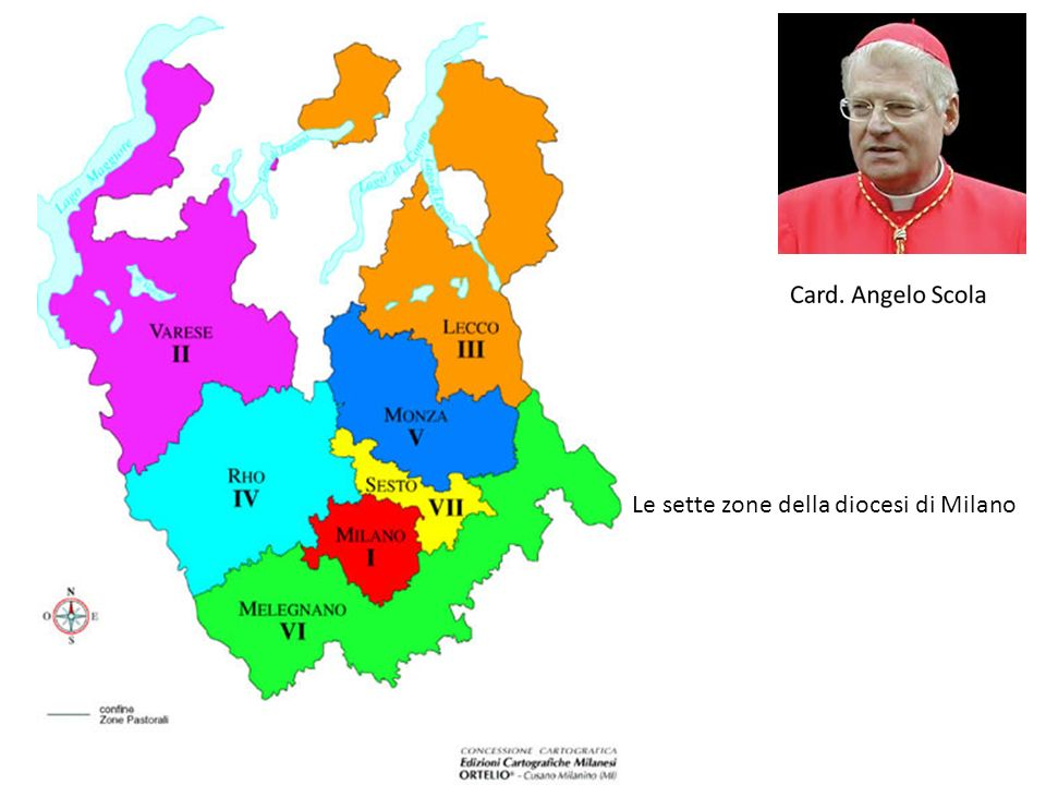 Le sette zone della diocesi di Milano