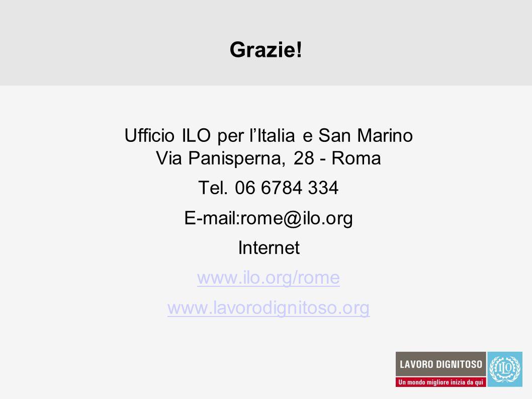Ufficio ILO per l'Italia e San Marino Via Panisperna, 28 - Roma
