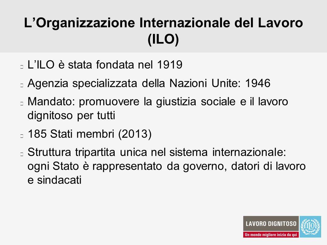 L'Organizzazione Internazionale del Lavoro (ILO)