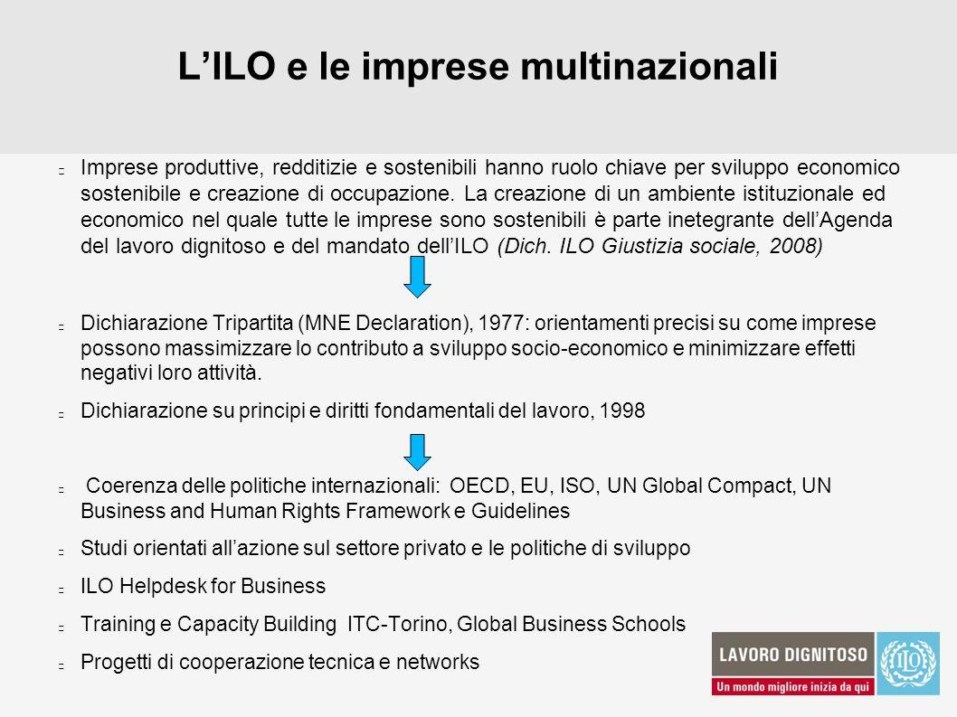 L'ILO e le imprese multinazionali