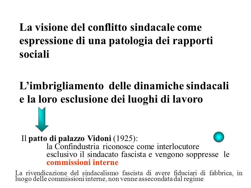 La visione del conflitto sindacale come espressione di una patologia dei rapporti sociali