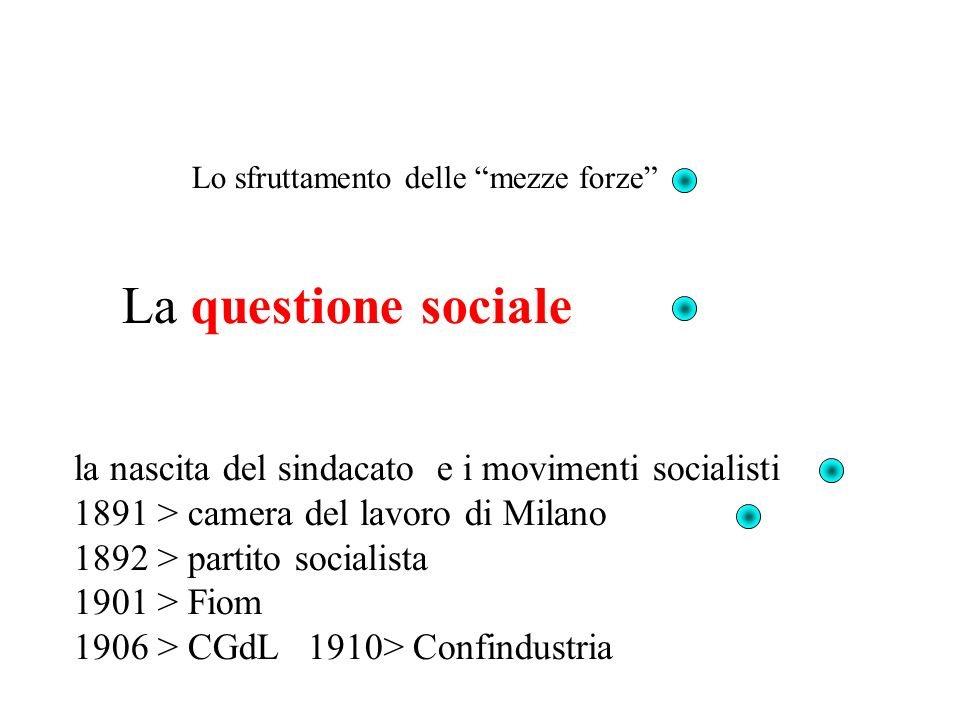 La questione sociale la nascita del sindacato e i movimenti socialisti