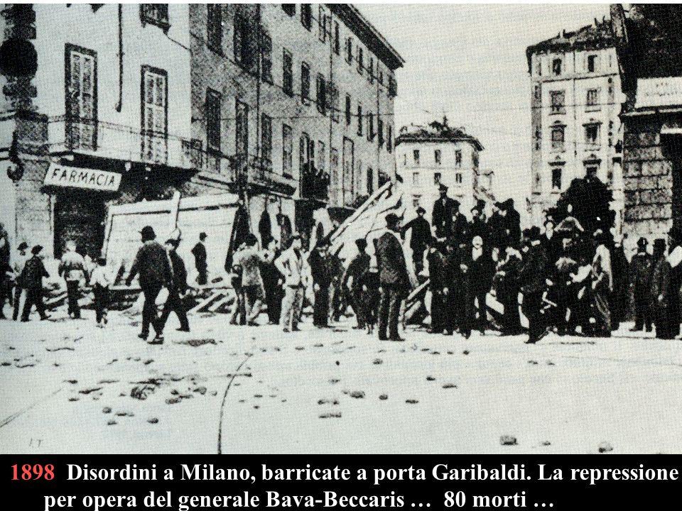 1898 Disordini a Milano, barricate a porta Garibaldi