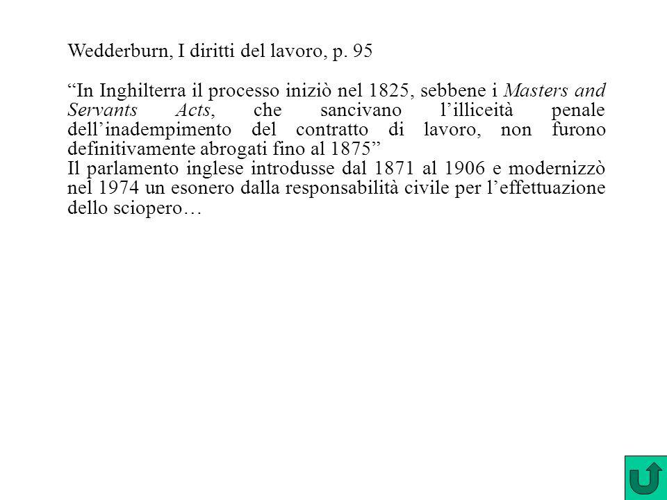 Wedderburn, I diritti del lavoro, p. 95