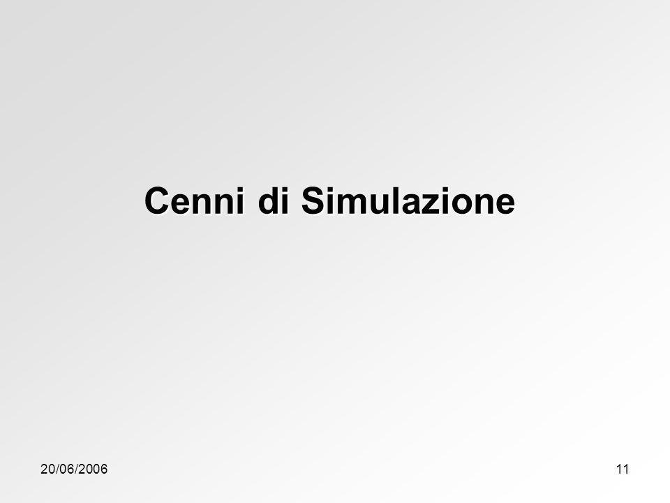 Cenni di Simulazione 20/06/2006