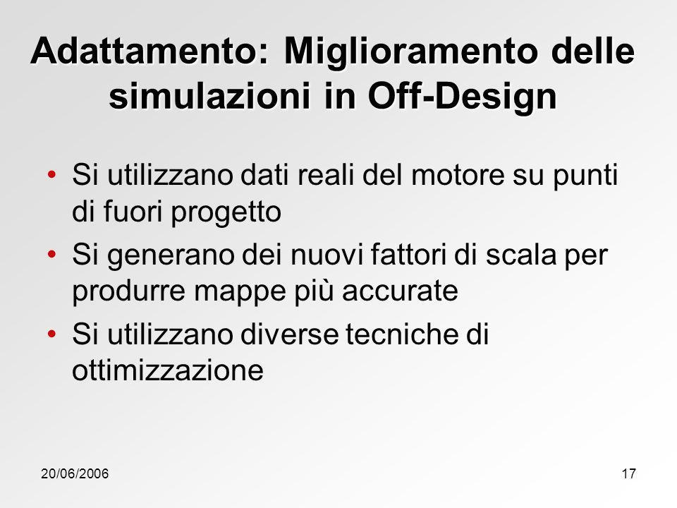 Adattamento: Miglioramento delle simulazioni in Off-Design