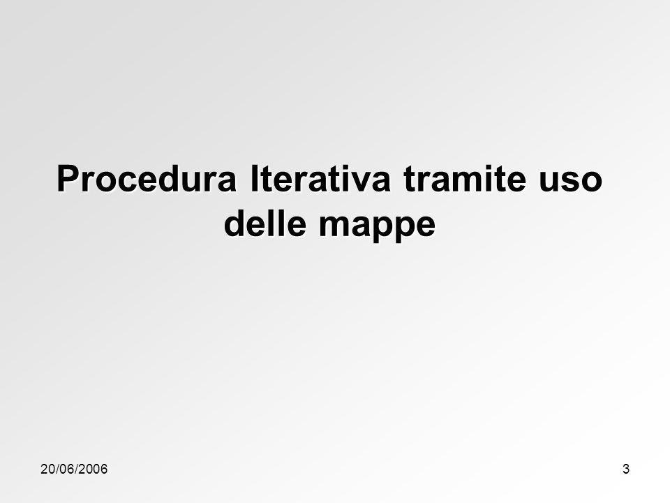 Procedura Iterativa tramite uso delle mappe