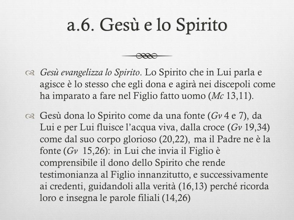 a.6. Gesù e lo Spirito