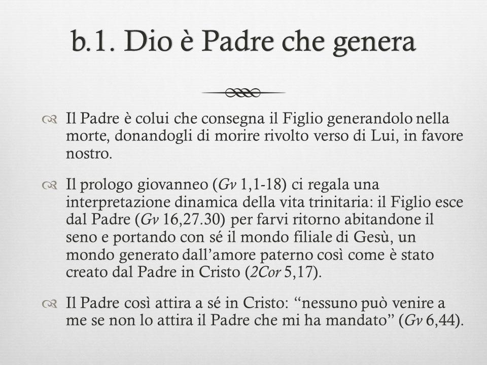 b.1. Dio è Padre che genera