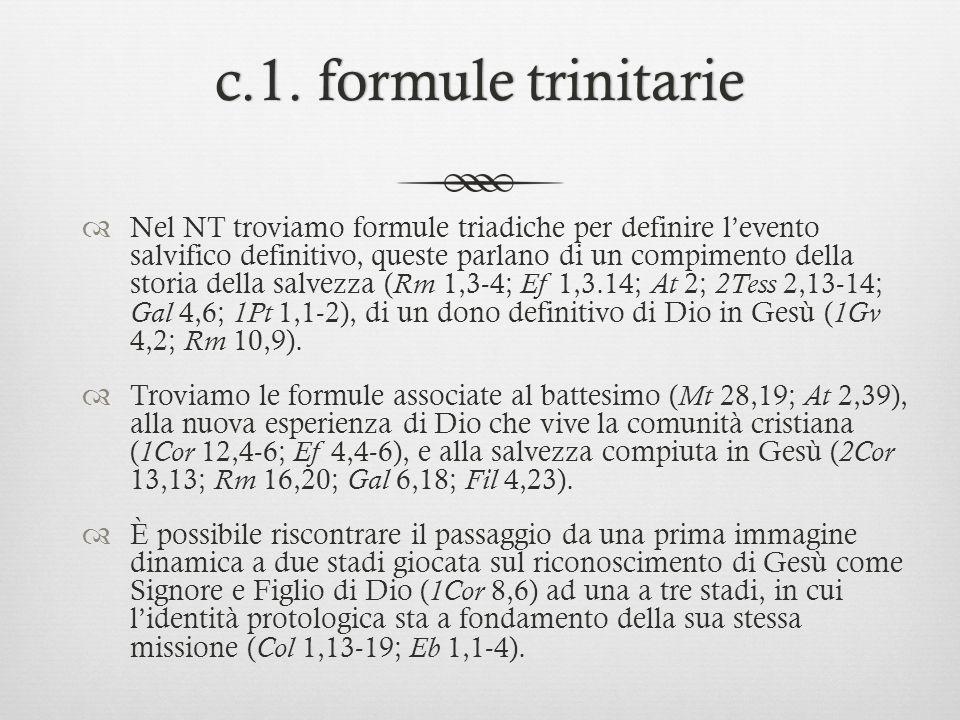 c.1. formule trinitarie