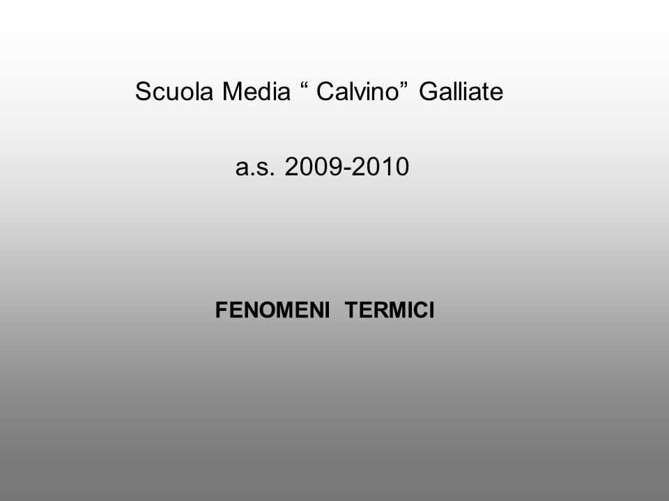 Scuola Media Calvino Galliate
