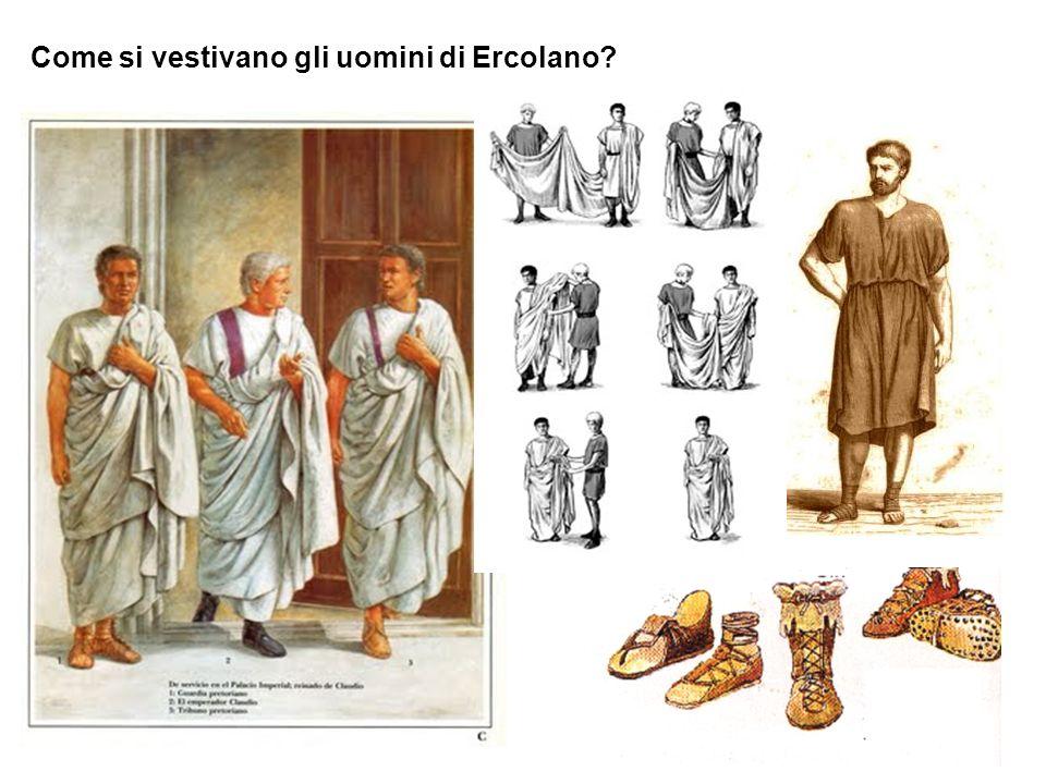 Come si vestivano gli uomini di Ercolano