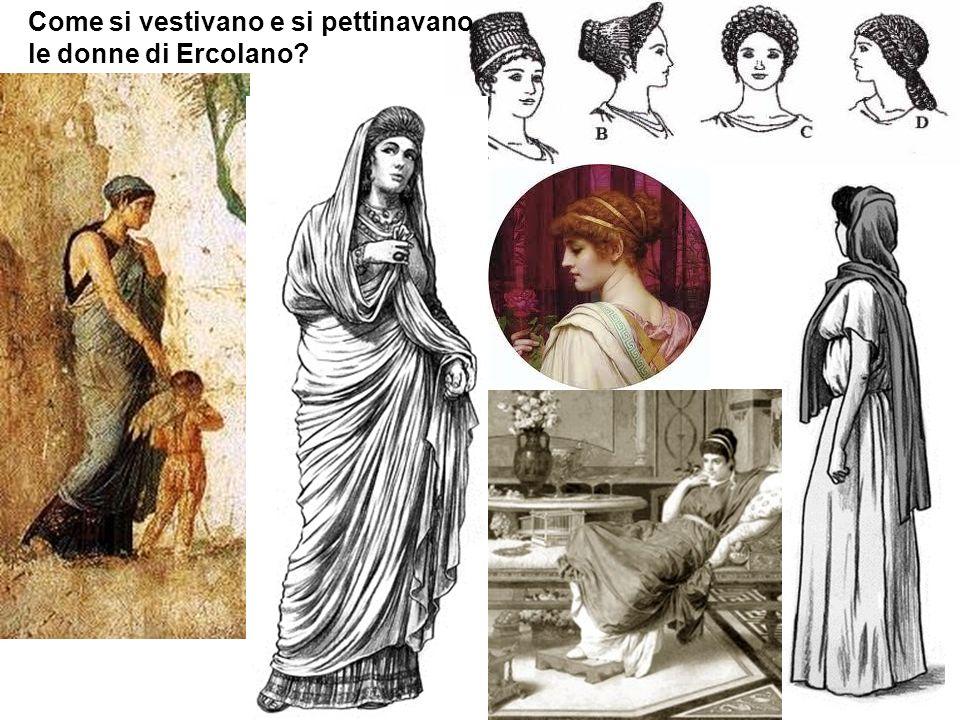 Come si vestivano e si pettinavano le donne di Ercolano