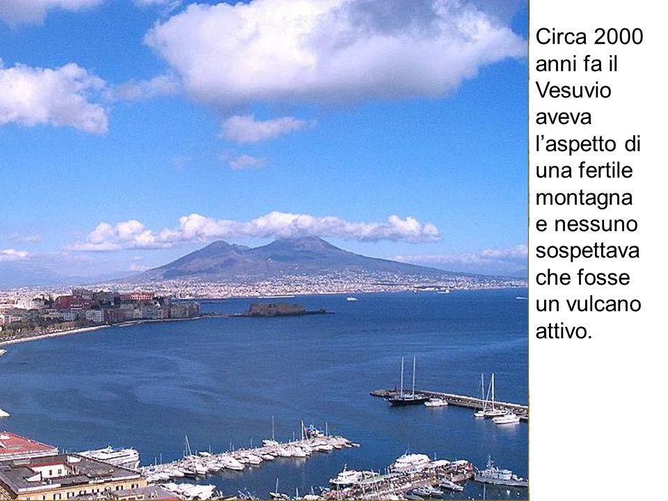 Circa 2000 anni fa il Vesuvio aveva l'aspetto di una fertile montagna e nessuno sospettava che fosse un vulcano attivo.