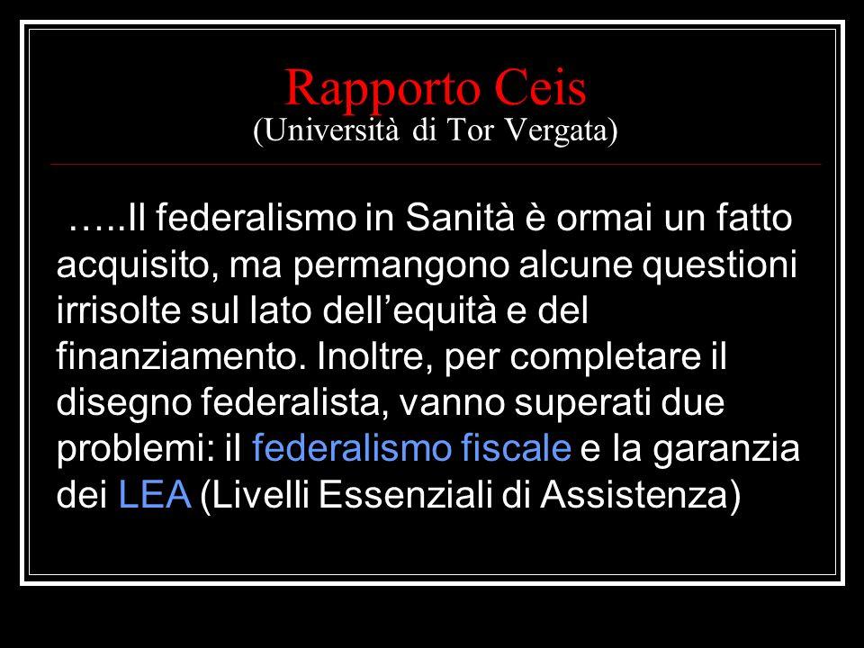 Rapporto Ceis (Università di Tor Vergata)