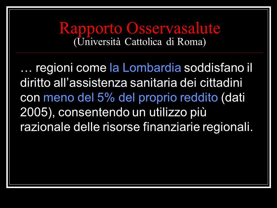 Rapporto Osservasalute (Università Cattolica di Roma)