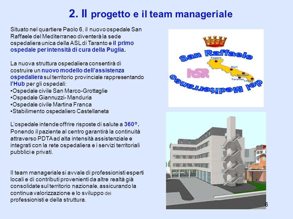 2. Il progetto e il team manageriale