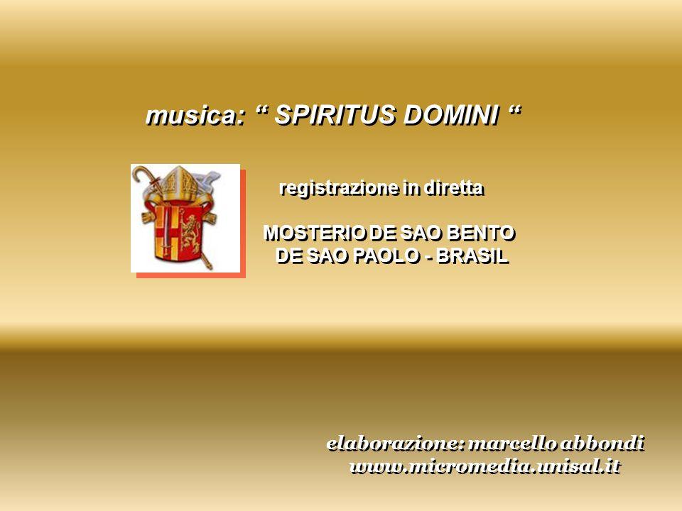 musica: SPIRITUS DOMINI