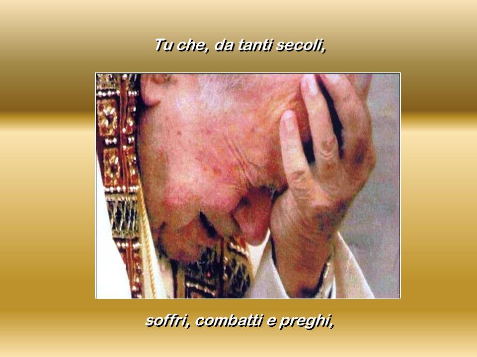 soffri, combatti e preghi,