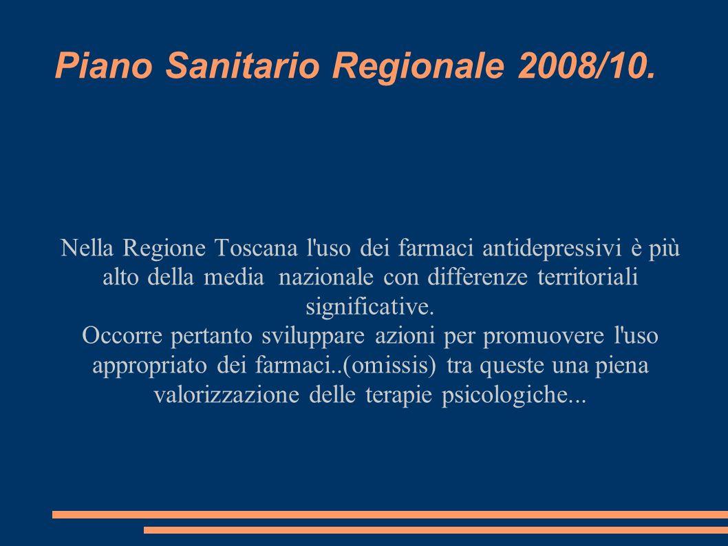 Piano Sanitario Regionale 2008/10.
