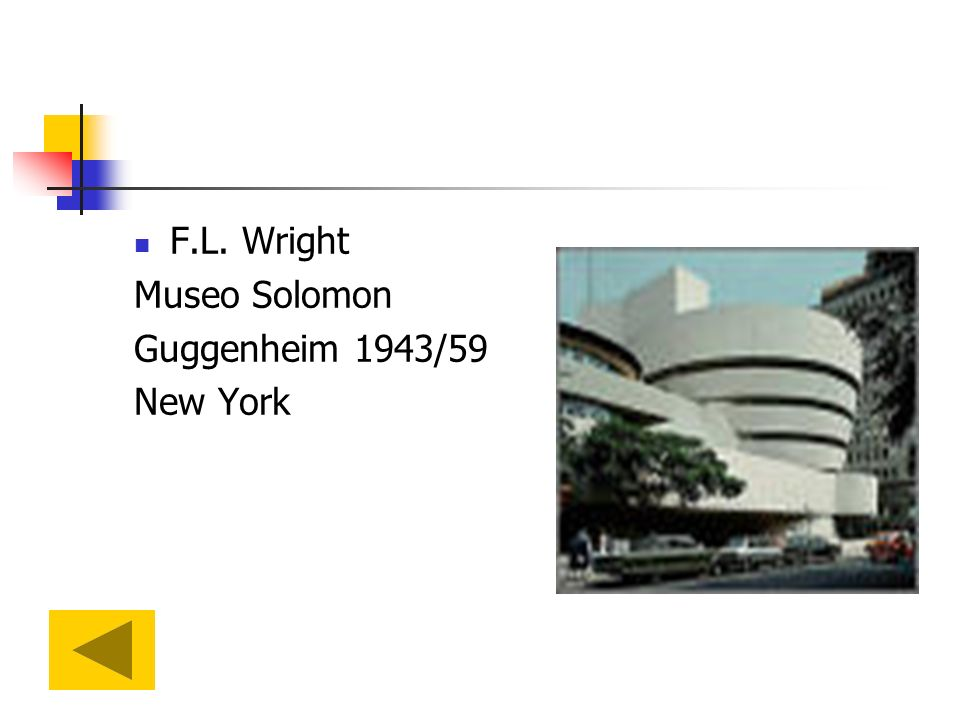 F.L. Wright Museo Solomon Guggenheim 1943/59 New York