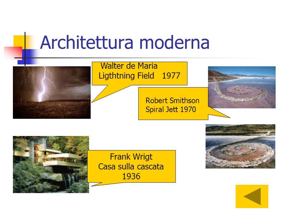 Architettura moderna Ligthtning Field 1977 Frank Wrigt