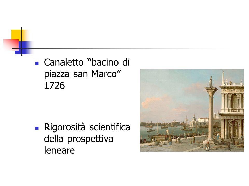 Canaletto bacino di piazza san Marco 1726