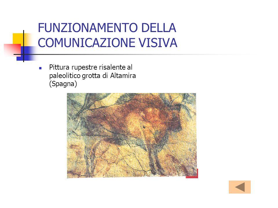 FUNZIONAMENTO DELLA COMUNICAZIONE VISIVA