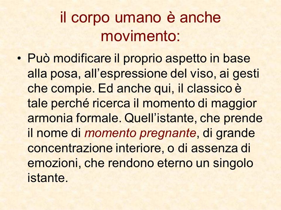 il corpo umano è anche movimento: