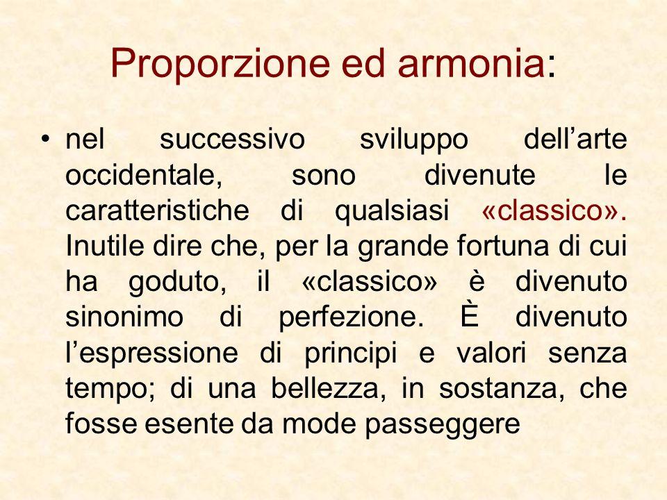 Proporzione ed armonia:
