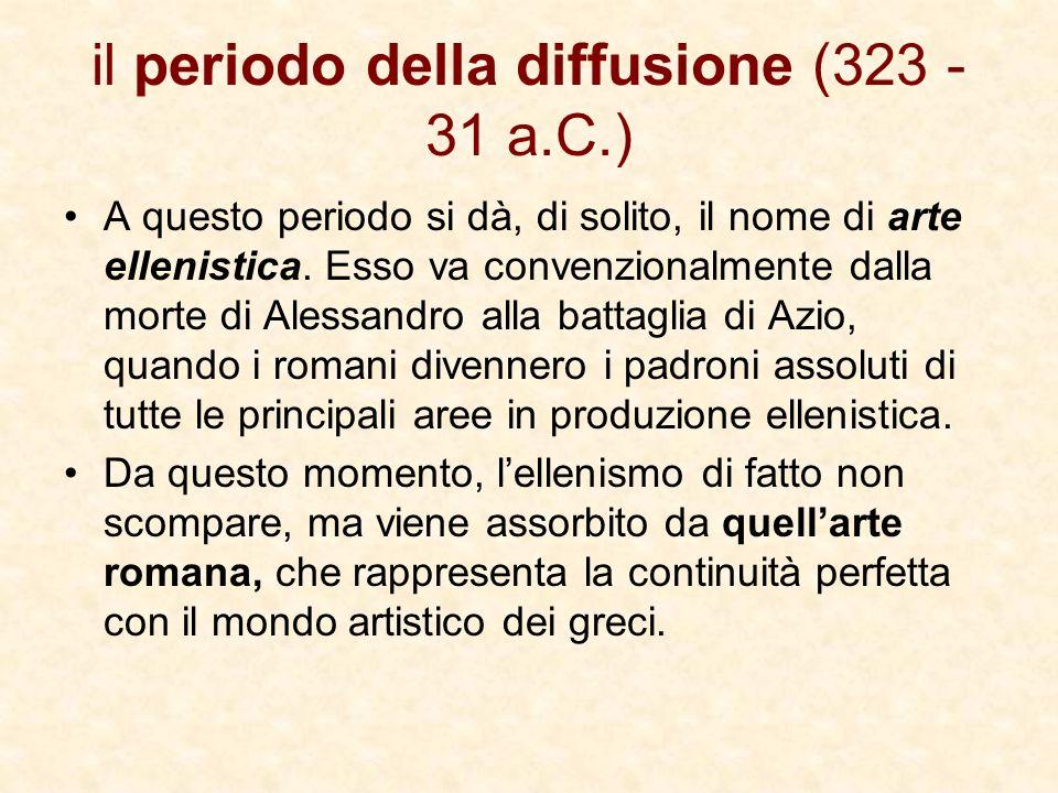 il periodo della diffusione (323 - 31 a.C.)