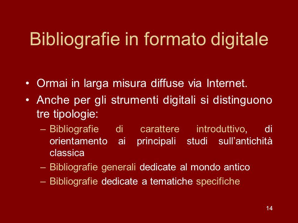 Bibliografie in formato digitale