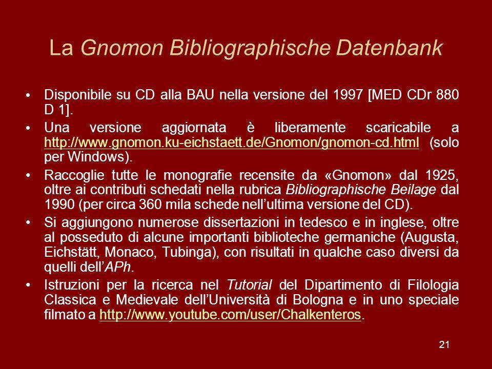 La Gnomon Bibliographische Datenbank