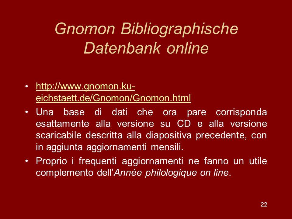 Gnomon Bibliographische Datenbank online