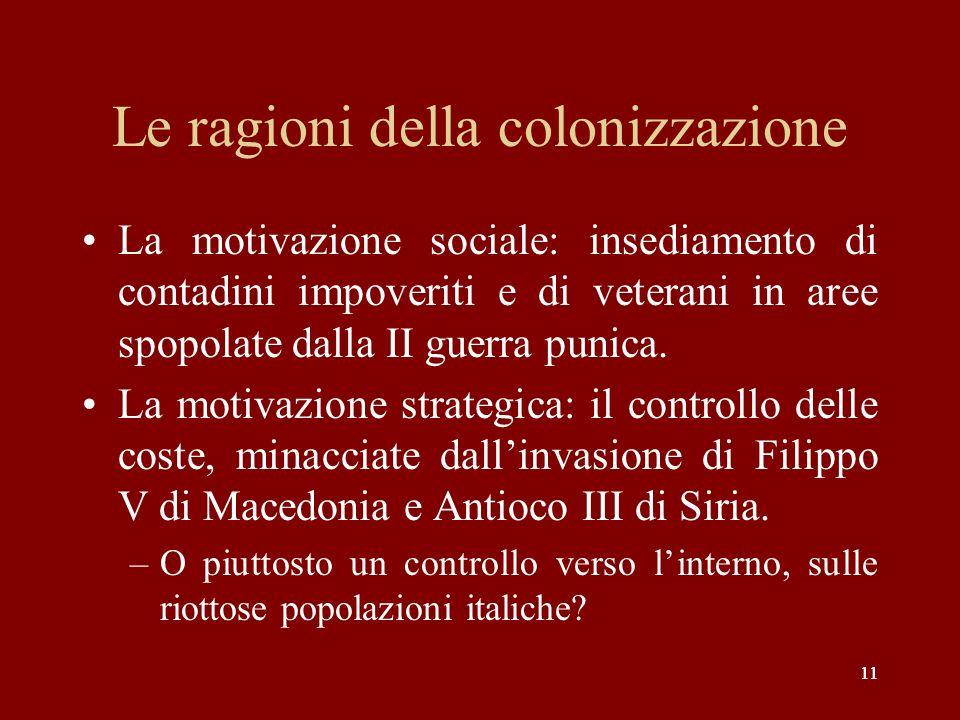 Le ragioni della colonizzazione