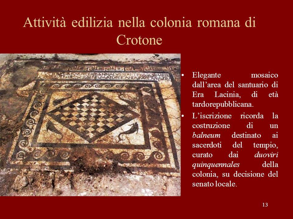 Attività edilizia nella colonia romana di Crotone