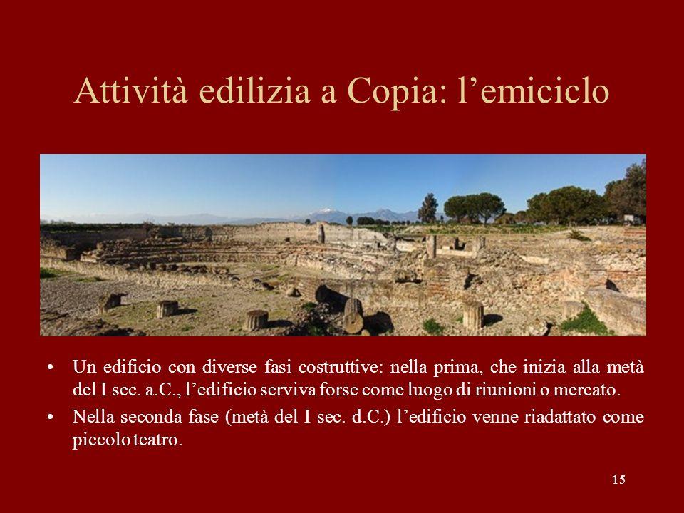 Attività edilizia a Copia: l'emiciclo