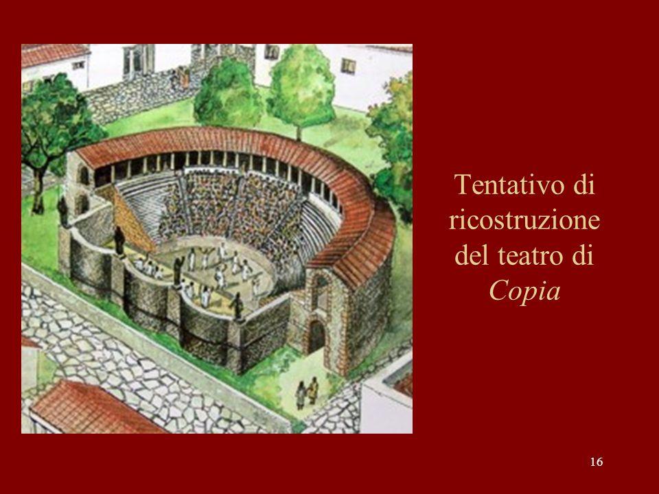 Tentativo di ricostruzione del teatro di Copia