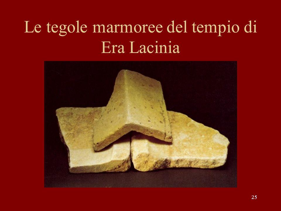 Le tegole marmoree del tempio di Era Lacinia