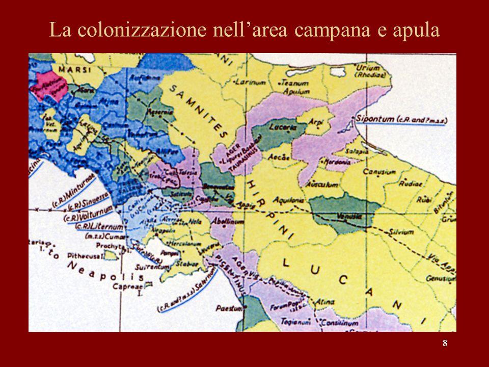 La colonizzazione nell'area campana e apula