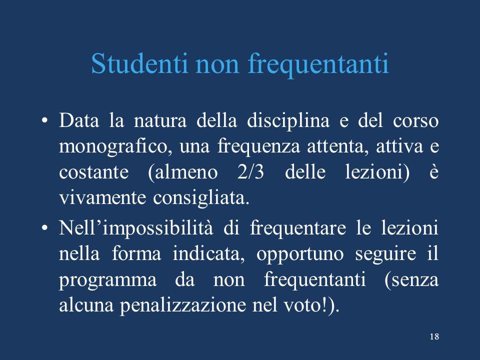 Studenti non frequentanti