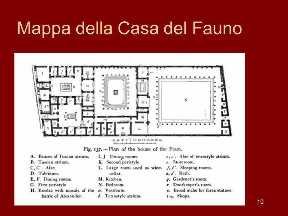 Mappa della Casa del Fauno