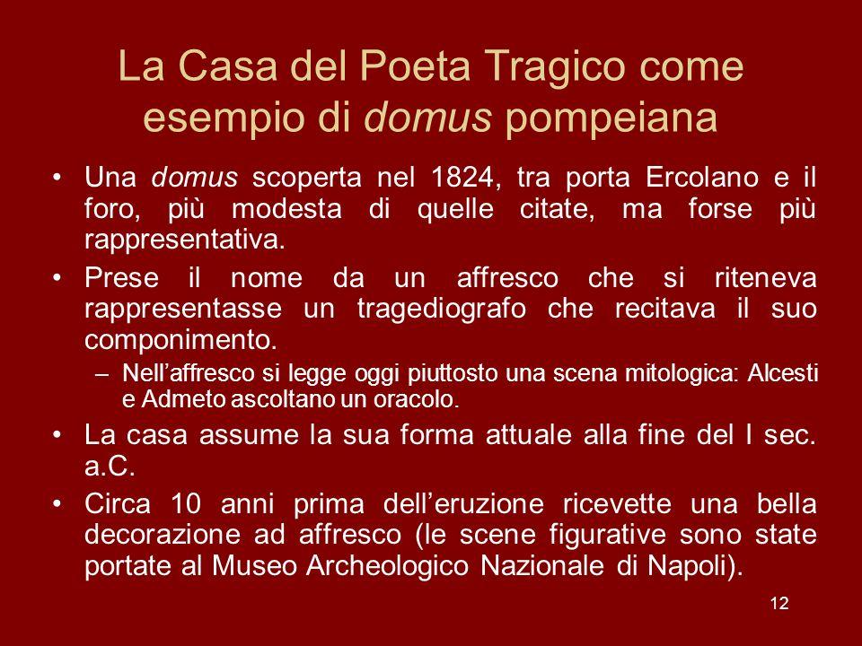 La Casa del Poeta Tragico come esempio di domus pompeiana