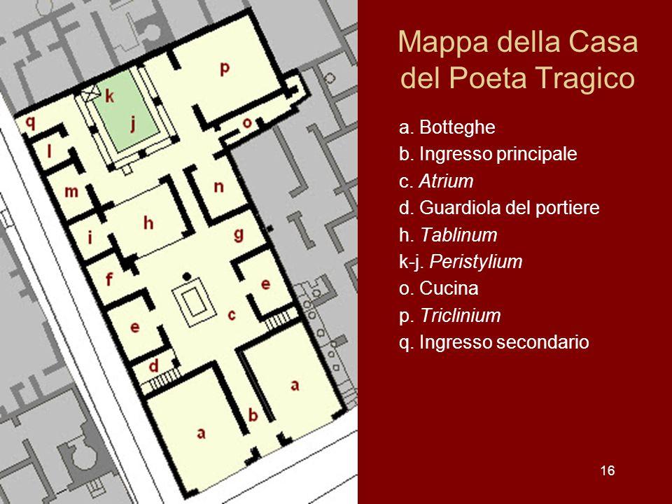 Mappa della Casa del Poeta Tragico