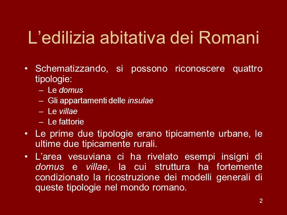 L'edilizia abitativa dei Romani