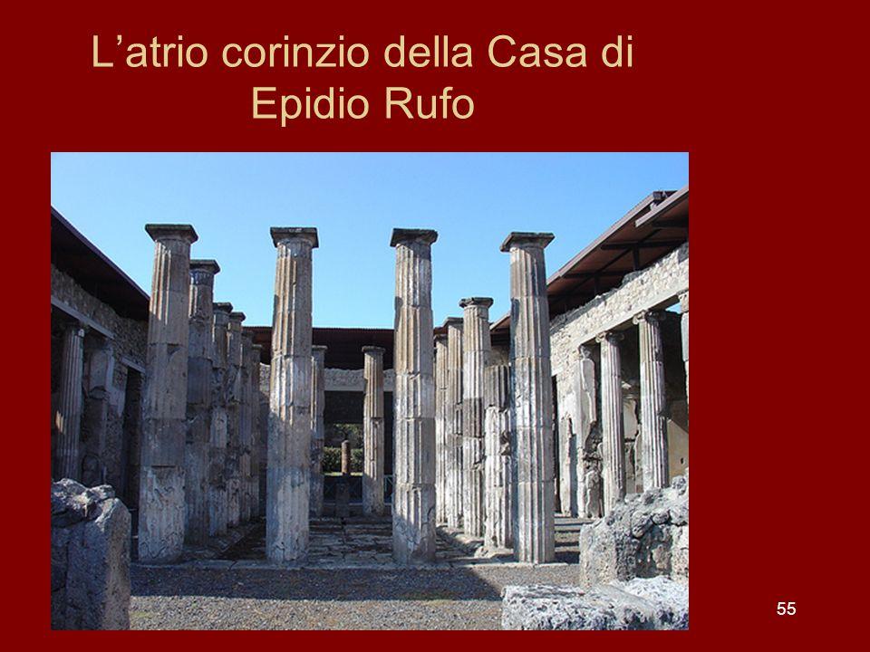 L'atrio corinzio della Casa di Epidio Rufo