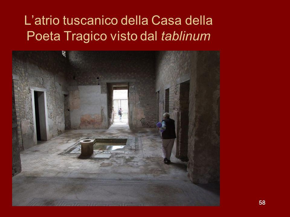 L'atrio tuscanico della Casa della Poeta Tragico visto dal tablinum